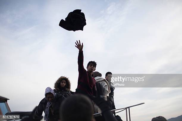 Migrants land on the shores of the Greek island of Lesbos after crossing the Aegean Sea from Turkey on November 16 2015Since the start of the summer...