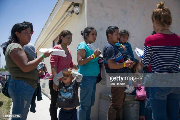 Migrants mostly from Honduras El Salvador Venezuela Guatemala and Brazil arrive at the El Calvario Methodist Church that is housing migrants who are...