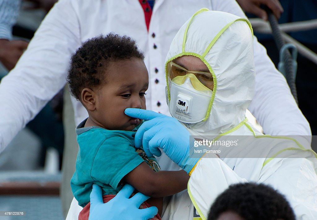 Ship With Migrants Arrives In Salerno : News Photo