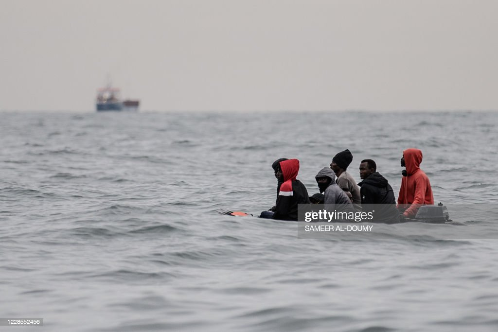 FRANCE-BRITAIN-EU-MIGRANTS-SEA : News Photo