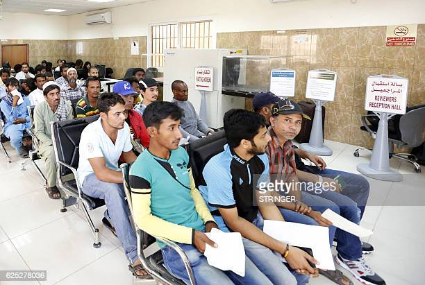 Migrants wait at the Search and Follow up Department which is processing the claims of those trying to leave as part of an ongoing threemonth amnesty...