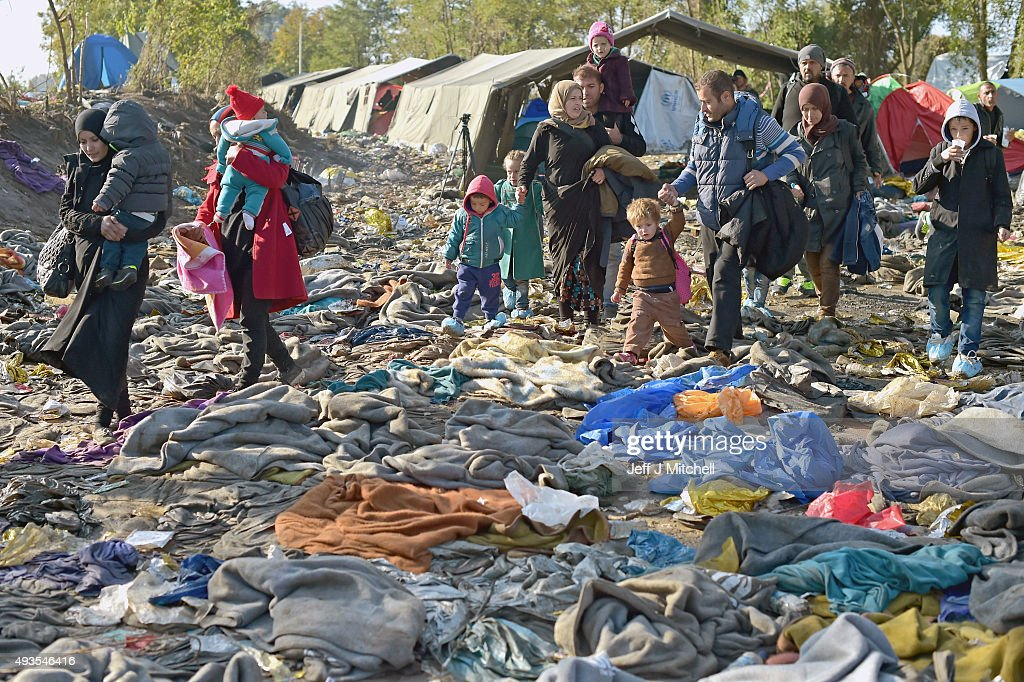 Worsening Weather Brings Misery For Migrants : News Photo