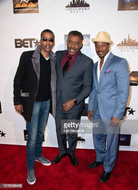 Miguel A Nunez Jr Ernie Hudson and Darrin Dewitt Henson attend BET's The Family Business Special Screening at Ahrya Fine Arts Theater on January 7...