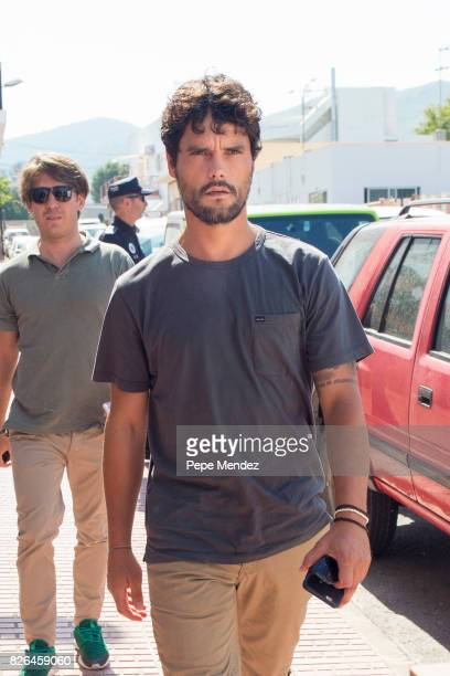 Miguel Abellan attends the funeral chapel for ex motorcyclist Angel Nieto at Tanatorio de Ibiza on August 4 2017 in Ibiza Spain
