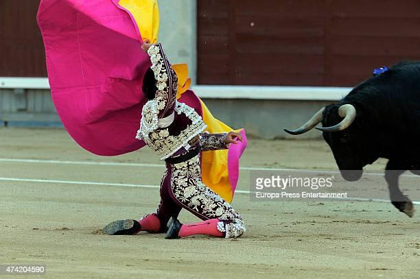 Miguel Abellan performs during Association Bullfighting during San Isidro Fair at Las Ventas Bullring on May 20 2015 in Madrid Spain
