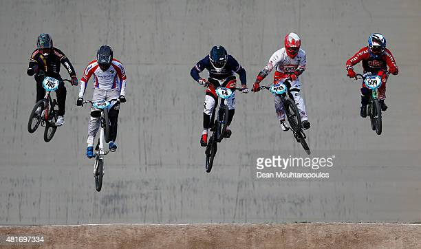 Miguel Alejandro Calixto Lopez of Colombia, Evgeny Kleshchenko of Russia, Quentin Caleyron of France, Yoshitaku Nagasako of Japan and Thomas Zula of...