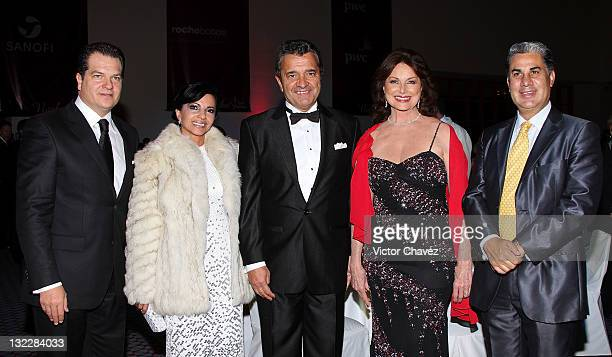 Miguel Aleman Magnani Claudia Magnani Alfred Rodriguez Christiane Magnani and Alejandro Rojas attend the Miss France 2012 gala night at the Hotel...