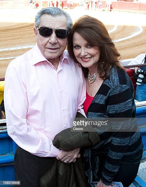 Miguel Aleman Velasco and Christiane Magnani pose during a bull fighting as part of the 17th race of the Temporada Grande 20102011 at Plaza de Toros...
