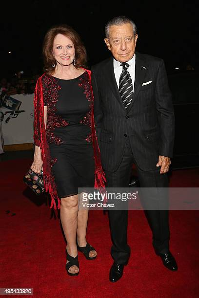 Miguel Aleman Velasco and his wife Christianne Magnani attend the Spectre Mexico City premiere at Auditorio Nacional on November 2 2015 in Mexico...