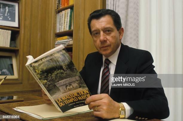 Miguel Aleman Velasco, politicien et homme d'affaires mexicain, le 2 avril 1987 en France.