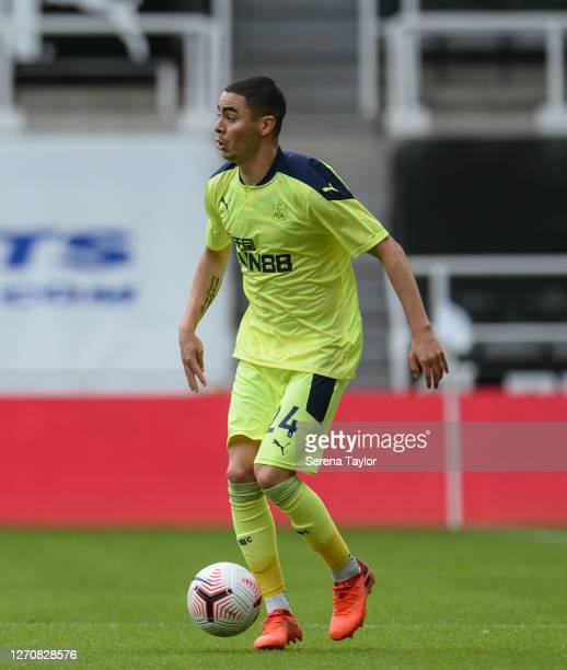 Miguel Almirón of Newcastle United FC during the Pre Season Friendly between Newcastle United and Stoke City at St James' Park on September 05 2020...