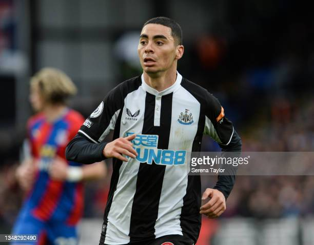Miguel Almirón of Newcastle United FC during the Premier League match between Crystal Palace and Newcastle United at Selhurst Park on October 23,...