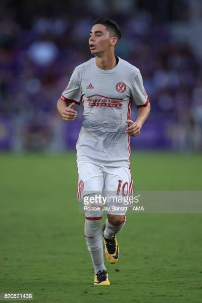 Miguel Almiron of Atlanta United during the MLS match between Atlanta United and Orlando City at Orlando City Stadium on July 21 2017 in Orlando...