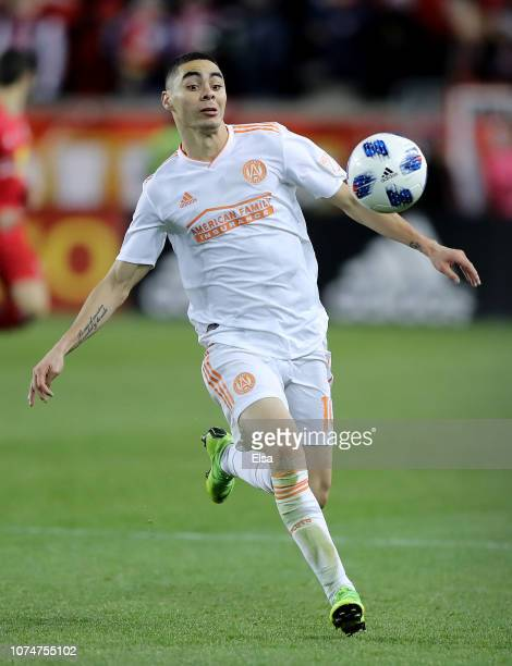 Miguel Almiron of Atlanta United FC goes after the ball in the second half against the New York Red Bulls during the Eastern Conference Finals Leg 2...