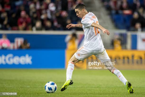 Miguel Almiron of Atlanta United in action during the New York Red Bulls Vs Atlanta United FC MLS Eastern Conference Final second leg at Red Bull...