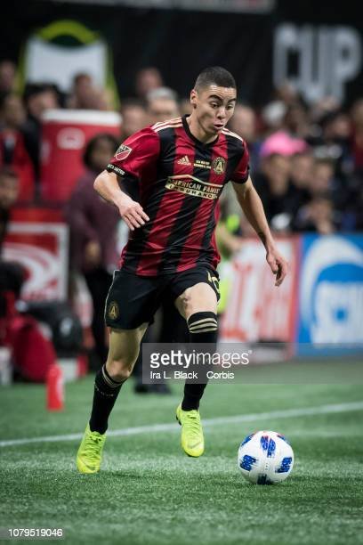 Miguel Almiron of Atlanta United turns on the speed during the 2018 Audi MLS Cup Championship match between Atlanta United and the Portland Timbers...