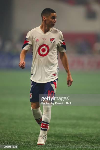 Miguel Almiron of MLS All Stars during the 2018 MLS AllStars game between Juventus v MLS AllStars at MercedesBenz Stadium on August 1 2018 in Atlanta...