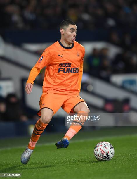 Miguel Almiron of Newcastle United in action during the FA Cup Fifth Round match between West Bromwich Albion and Newcastle United at The Hawthorns...