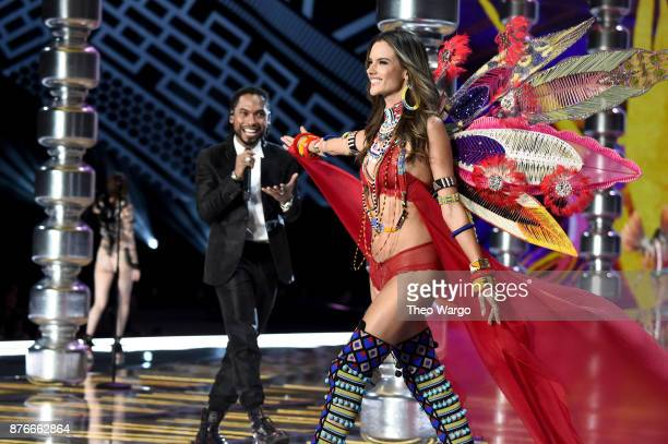 Miguel and Alessandra Ambrosio walk the runway during the 2017 Victoria's Secret Fashion Show In Shanghai at MercedesBenz Arena on November 20 2017...