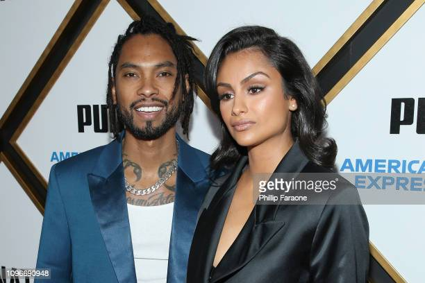 Miguel and and Nazanin Mandi attend 2019 Roc Nation THE BRUNCH on February 9 2019 in Los Angeles California