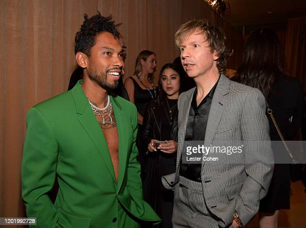 Miguel and Beck attend the PreGRAMMY Gala and GRAMMY Salute to Industry Icons Honoring Sean Diddy Combs on January 25 2020 in Beverly Hills California