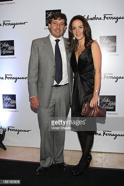 Miguel and Denise Gomez de Parada attend the Salvatore Ferragamo Resort 2012 collection launch at Saks Fifth Avenue Plaza Carso on December 6 2011 in...