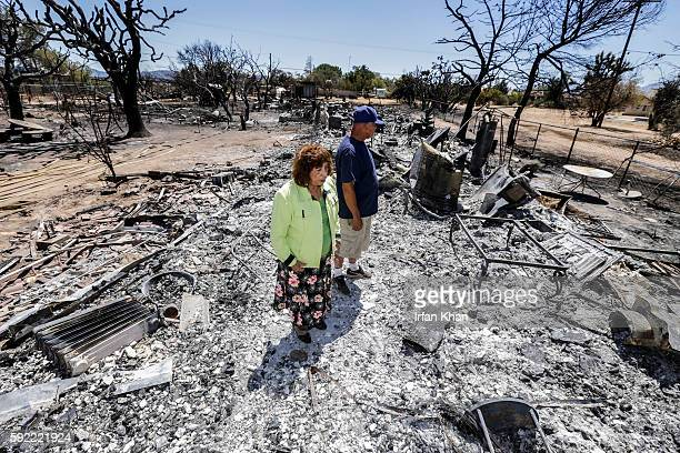 Miguel and Mabel Ramos both 73yearold are traumatized by the devastation caused by Blue Cut Fire that swept through his residence on 6500 block of...