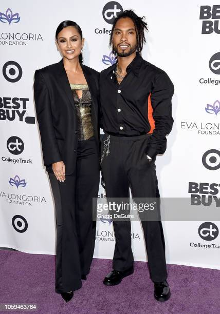 Miguel and Nazanin Mandi arrive at the Eva Longoria Foundation Dinner Gala at Four Seasons Hotel Los Angeles at Beverly Hills on November 8 2018 in...