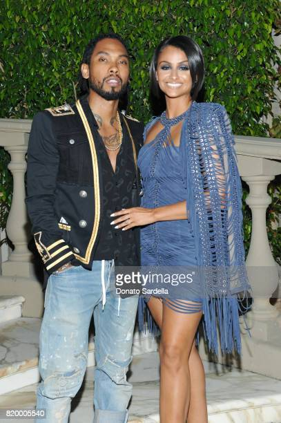 Miguel and Nazanin Mandi at BALMAIN celebrates first Los Angeles boutique opening and Beats by Dre collaboration on July 20 2017 in Beverly Hills...
