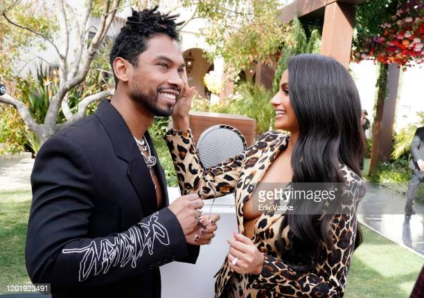 Miguel and Nazanin Mandi attend 2020 Roc Nation THE BRUNCH on January 25 2020 in Los Angeles California