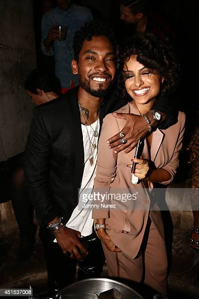 Miguel and Nazanin Mandi attend 4th Annual Official Mark Pitts Bystorm Entertainment Post BET Awards Celebration Hosted By Usher at The Emerson...