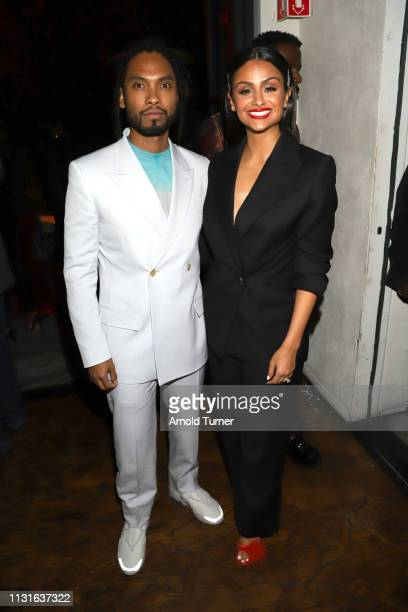 Miguel and Nazanin Mandi attend Common's 5th Annual Toast to the Arts at Ysabel on February 22 2019 in West Hollywood California