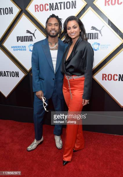 Miguel and Nazanin Mandi attend the 2019 Roc Nation THE BRUNCH on February 09 2019 in Los Angeles California