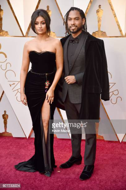 Miguel and Nazanin Mandi attend the 90th Annual Academy Awards at Hollywood Highland Center on March 4 2018 in Hollywood California