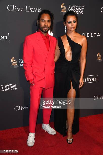 Miguel and Nazanin Mandi attend the PreGRAMMY Gala and GRAMMY Salute to Industry Icons Honoring Clarence Avant at The Beverly Hilton Hotel on...