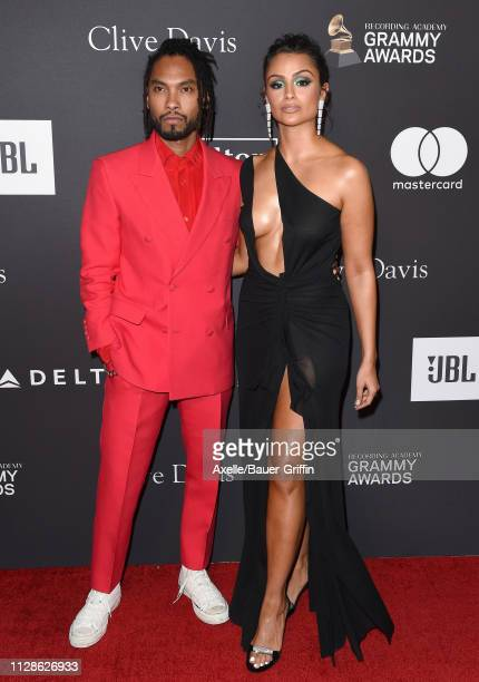 Miguel and Nazanin Mandi attend The Recording Academy and Clive Davis' 2019 PreGRAMMY Gala at The Beverly Hilton Hotel on February 09 2019 in Beverly...