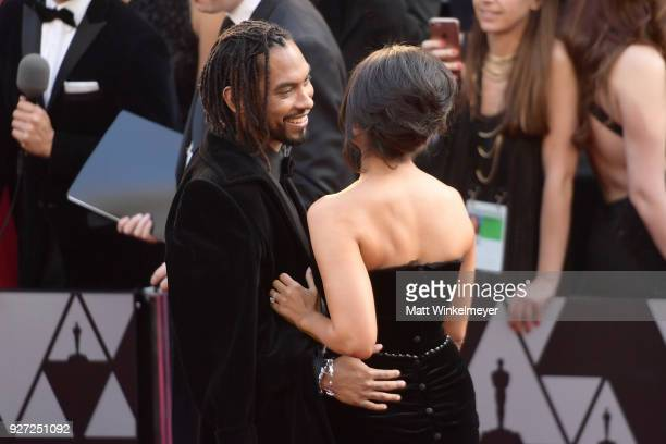 Miguel and Nazanin Mandi attends the 90th Annual Academy Awards at Hollywood Highland Center on March 4 2018 in Hollywood California