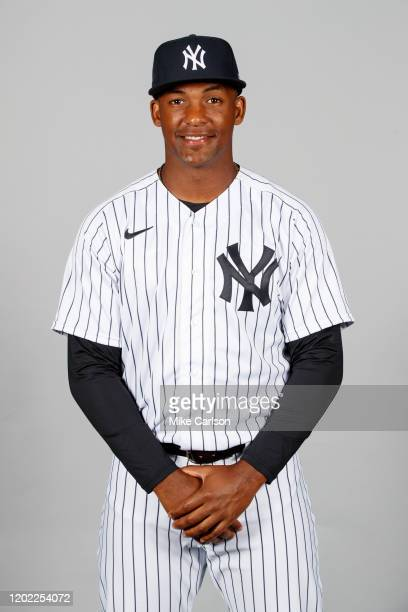 Miguel Andujar of the New York Yankees poses during Photo Day on Thursday, February 20, 2020 at George M. Steinbrenner Field in Tampa, Florida.