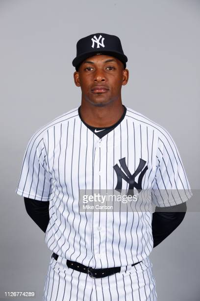 Miguel Andujar of the New York Yankees poses during Photo Day on Thursday, February 21, 2019 at George M. Steinbrenner Field in Tampa, Florida.