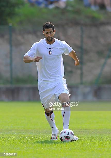 Miguel Angel Britos of Bologna in action during pre season friendly match betwen Bologna and Molveno on July 15 2010 in Andalo Valtellino Italy