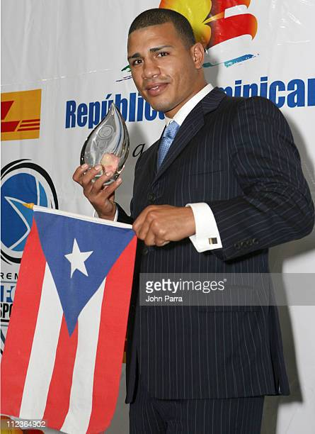 Miguel Angel Cotto during 2005 Premios Fox Sports Press Room at Jackie Gleason Theater in Miami Beach Florida United States