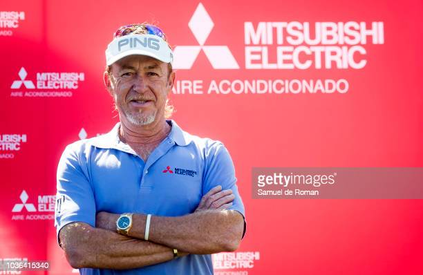 Miguel Angel Jimenez attends 'GolfDay' Photocall on September 20 2018 in San Sebastian de los Reyes Spain