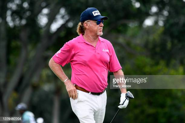 Miguel Angel Jimenez during the second round of the PGA TOUR Champions Timber Tech Championship at The Old Course at Broken Sound on October 31, 2020...