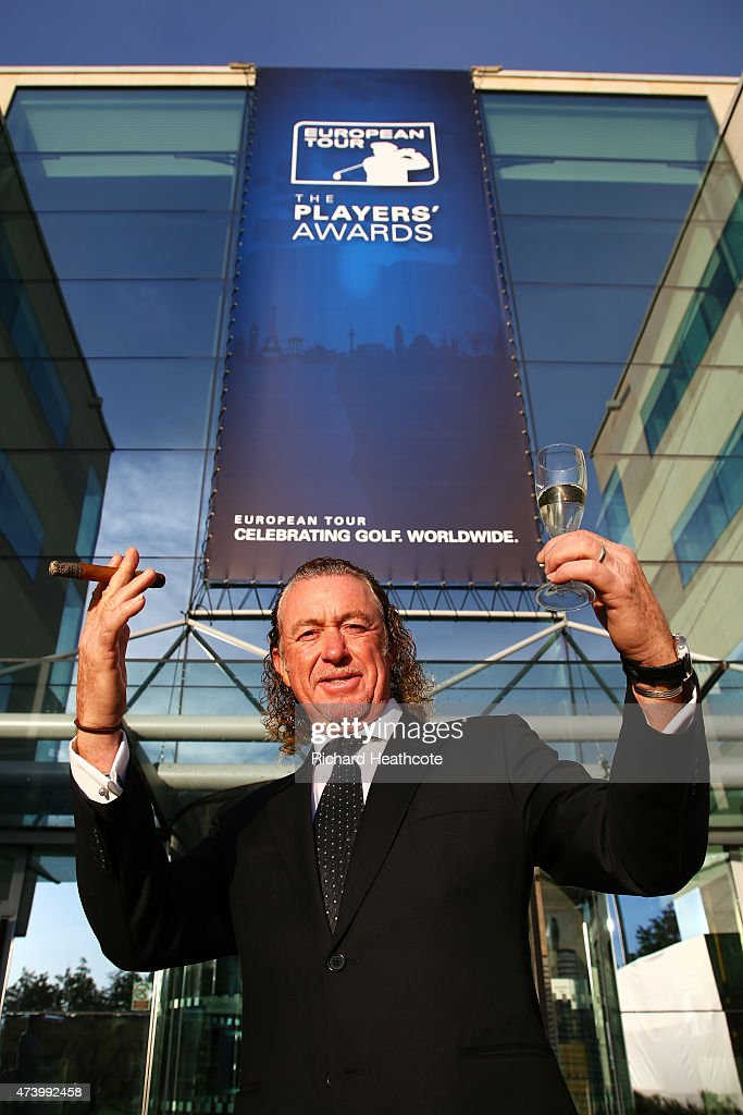 Miguel Angel Jimenez of Spain attends the European Tour Players' Awards ahead of the BMW PGA Championship at the Sofitel London Heathrow on May 19, 2015 in London, England.