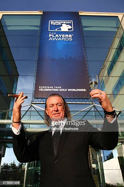 Miguel Angel Jimenez of Spain attends the European Tour Players' Awards ahead of the BMW PGA Championship at the Sofitel London Heathrow on May 19...