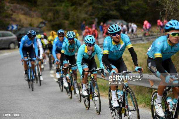 Miguel Angel Lopez of Colombia and Astana Pro Team Green Leader Jersey / Andrey Zeits of Kazahkstan and Astana Pro Team / during the 99th Volta...