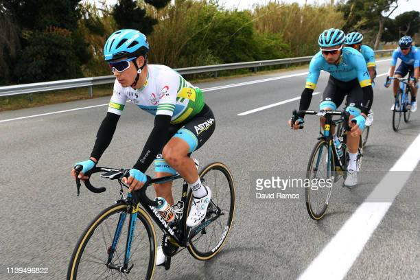 Miguel Angel Lopez of Colombia and Astana Pro Team Green Leader Jersey / during the 99th Volta Ciclista a Catalunya 2019 Stage 7 a 1431km stage from...