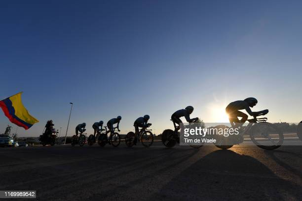 Miguel Angel Lopez of Colombia and Astana Pro Team / Manuele Boaro of Italy and Astana Pro Team / Dario Cataldo of Italy and Astana Pro Team / Omar...