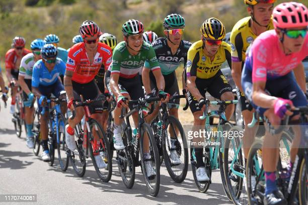 Miguel Angel Lopez of Colombia and Astana Pro Team / Nairo Quintana of Colombia and Movistar Team / Nicolas Roche of Ireland and Team Sunweb Red...