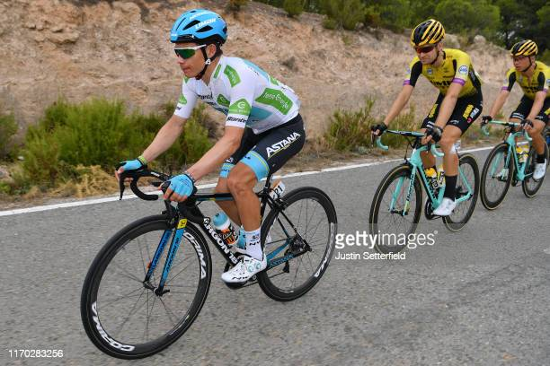Miguel Angel Lopez of Colombia and Astana Pro Team White Best Young Jersey / Lennard Hofstede of The Netherlands and Team JumboVisma / Tony Martin of...